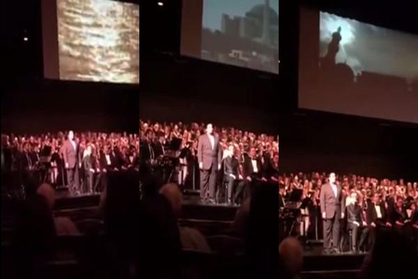 جلال.. سعودي يرفع الأذان أثناء إحتفالية بجامعة أمريكية