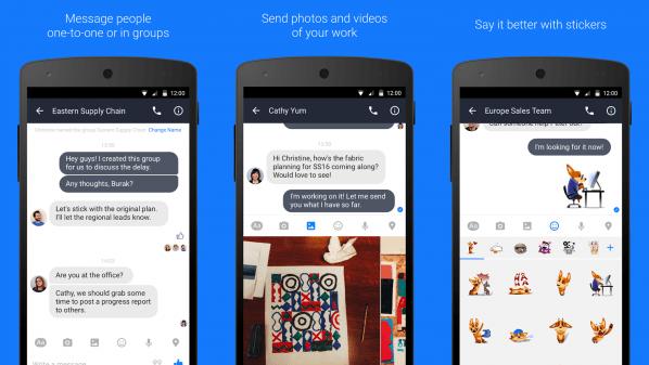 فيس بوك تُطلق تطبيق المُكالمات والمحادثات الفورية للأعمال