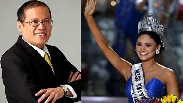 رئيس الفلبين العاشق الولهان بملكة جمال الكون الجديدة