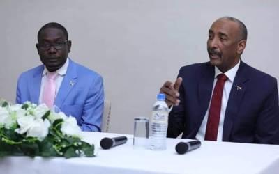البرهان من جوبا: همنا والمدنيون الوصول لاتفاق يعبر بالمرحلة الإنتقالية لبر الأمان