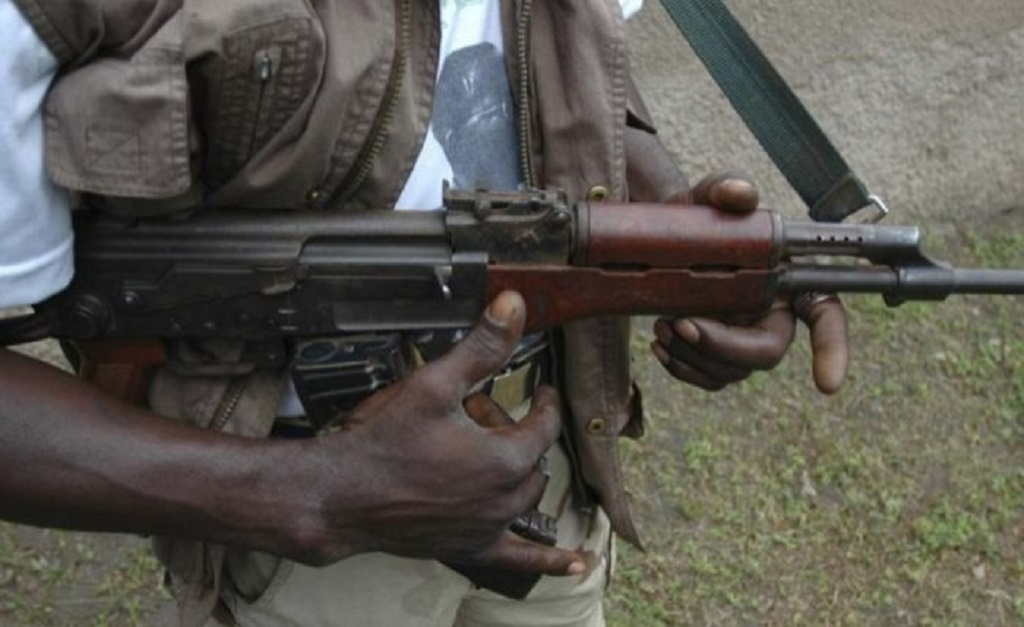An armed rebel soldier in Central Equatoria jungle [Photo by unknown]
