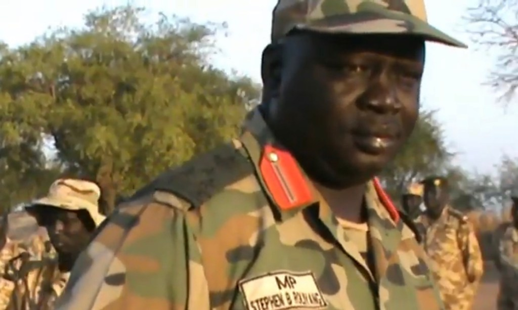 Secretary of Defense of South Sudan United Front General Stephen Buay Rolnyang [Photo by unknown]