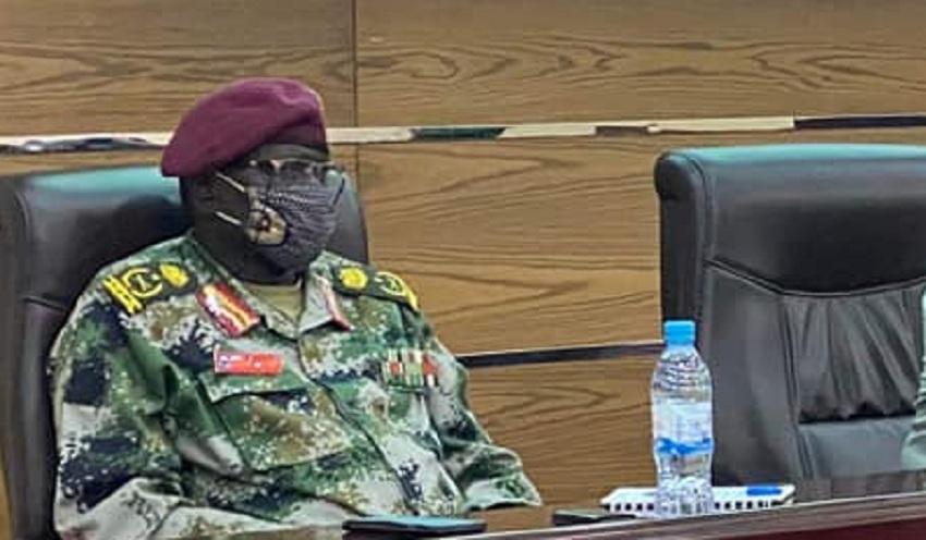 Acting SPLA-IO Chief of Staff General Gabriel Duop Lam. [Photo by JDB]