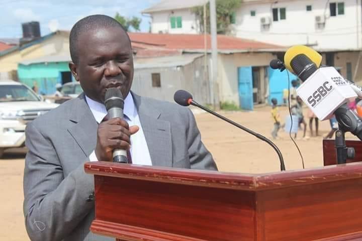 South Sudan lawmaker and advisor to VP Hussein Abdelbaggi Akol, Simon Arkangelo. [Photo by SSBC]