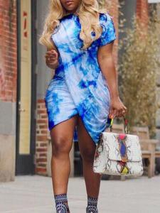 Light blue tulip dress