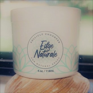 Jar of Edge Naturale Follicle Enhancer for yur hairline and your edges.