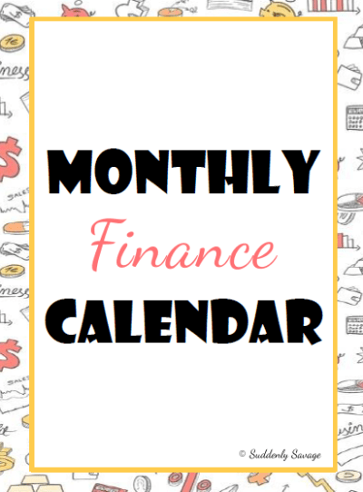 Monthly Finance Calendar