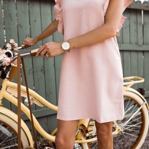 Pink flutter dress2