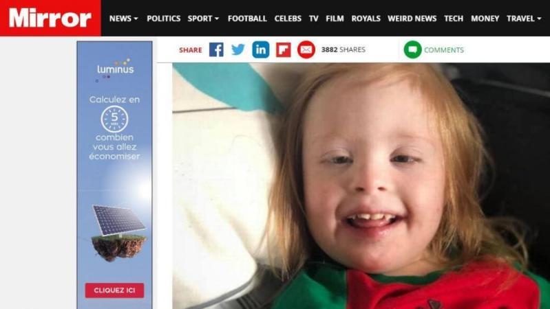 Une petite fille de 4 ans, atteinte de trisomie 21, battue à mort par le compagnon de sa maman: elle l'avait interrompu alors qu'il la baby-sittait