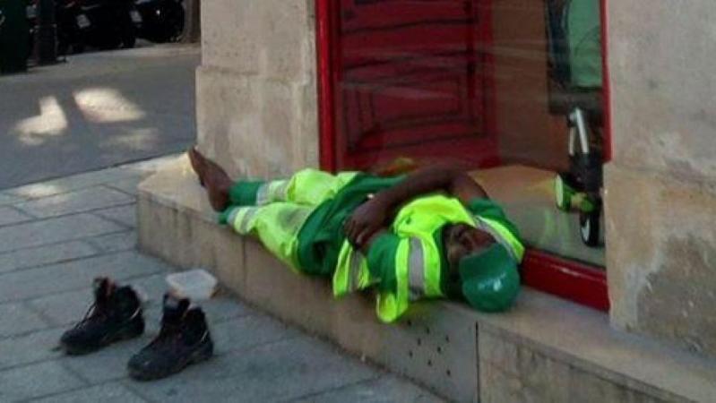 Un agent de propreté parisien licencié après la publication virale d'une photo de lui endormi sur Twitter: Adama Cissé va poursuivre son employeur