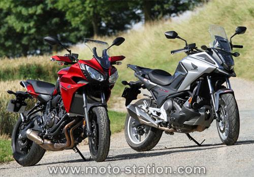 Comparatif yamaha tracer 700 vs honda nc750x dct moto for Yamaha dealers nc