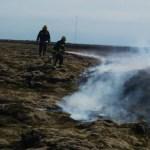 Mosabruni við Nesveg – Um 100 fermetra flötur brann