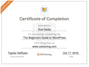 Beginner's Guide to WordPress Certificate