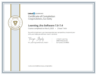 Certificate Of Completion Learning Jira Software 7
