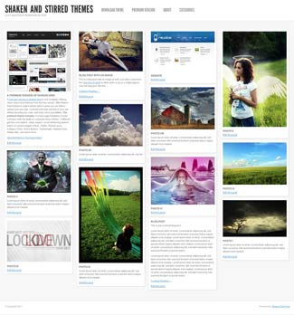 Shaken Grid Free WordPress Photo Theme