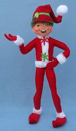 Annalee 14 Red Corduroy Elf Mint 2011 502311