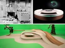 Mobiliar in TV-Studios: Bitte zu Tisch