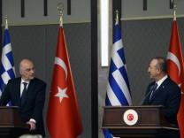 Türkei-Griechenland: Schlagabtausch auf gemeinsamer Pressekonferenz