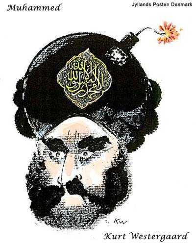 Mohammed-Karikatur von Kurt Westgaard
