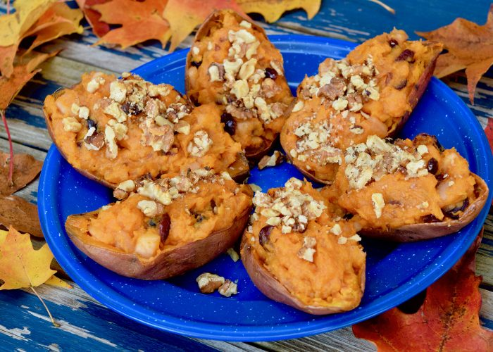 Sweet Potatoes Stuffed with Apples and Walnuts