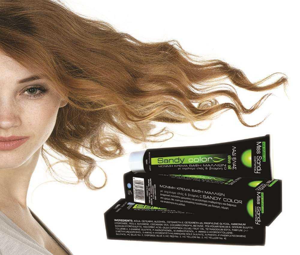 Βαφές Μαλλιών Miss Sandy με λάδι ελιάς και βιταμίνη C