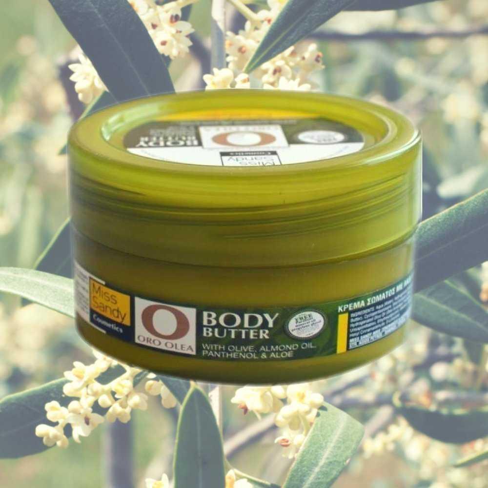 Oro Olea Body Butter Λάδι Ελιάς, Αμυγδαλέλαιο, πανθενόλη & αλόη