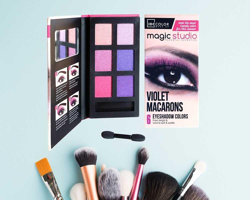 Idc Color Παλέτα σκιών Violet Macarons (6col)