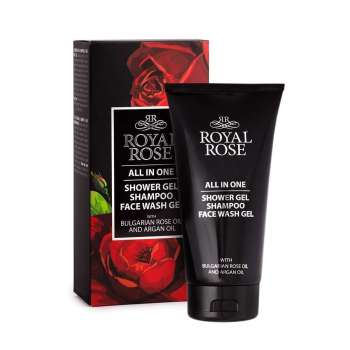 Shower gel & shampoo & face wash gel for men Royal Rose - Biofresh