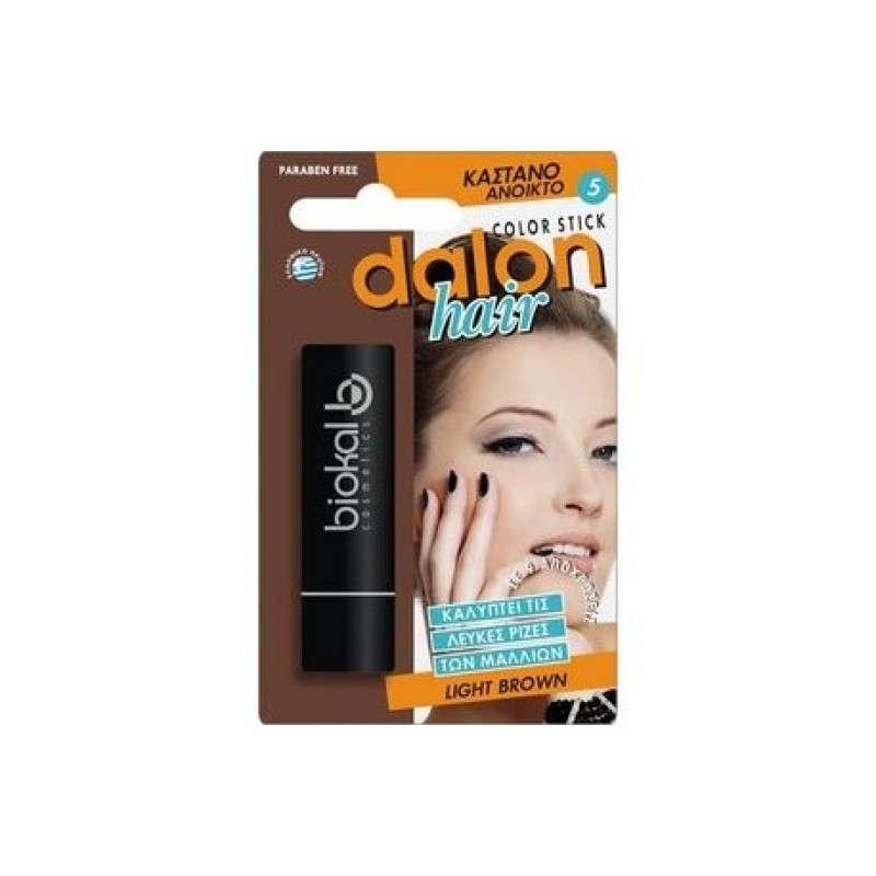 Dalon Hair Color Stick Light Brown Στικ Κάλυψης Λευκών Καστανό Ανοιχτό