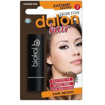 Dalon Hair Dark Brown Στικ Κάλυψης Καστανό Σκούρο