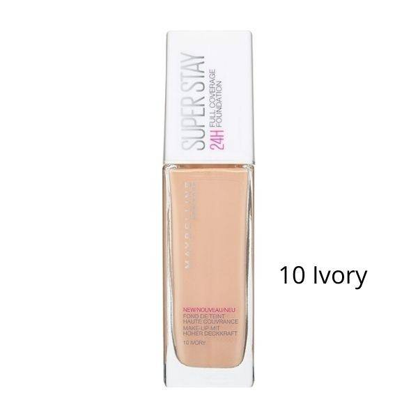 Maybelline Superstay 24h Full Coverage foundation No10 Ivory