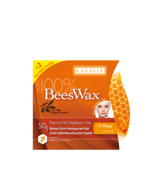Karaver Beeswax Ζεστό Κερί Αποτρίχωσης με μελισσοκέρι 50gr