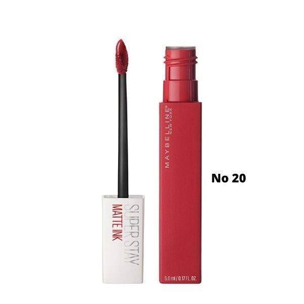 Maybelline Superstay Matte Ink Liquid Lipstick Κραγιόν Νο 20