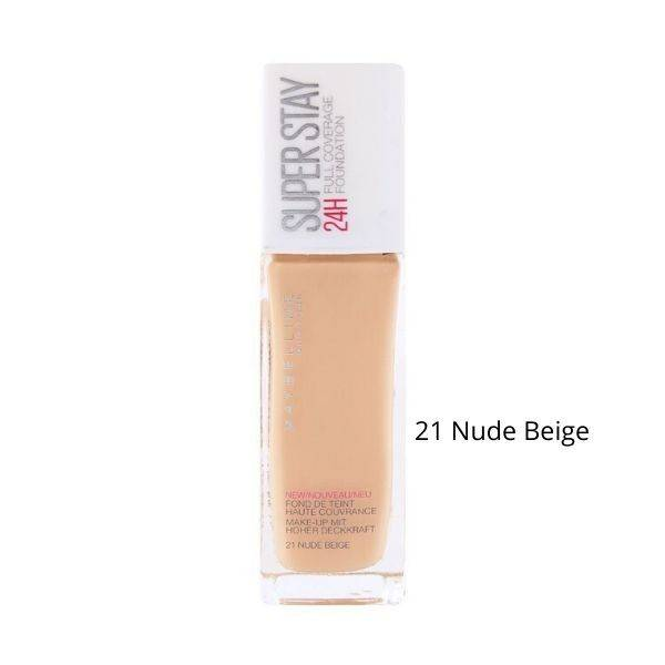 Maybelline Superstay 24h Full Coverage foundation No21 Nude Beige
