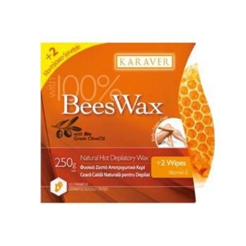 Karaver Beeswax Ζεστό Κερί Αποτρίχωσης με μελισσοκέρι 250gr
