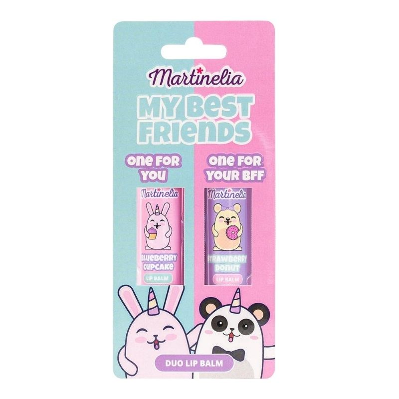 Martinelia Duo Lip Balm Παιδικό Σετ lipbalm Φράουλα & Μύρτιλο 2 x 4gr