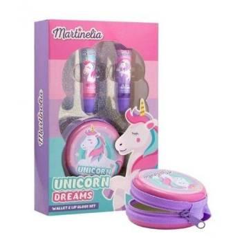 Martinelia Unicorn Dreams Σετ Lipgloss 2* 6ml & Πορτοφολάκι Μονόκερος 15gr