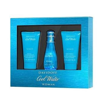 Davidoff Cool Water Women Gift Set - Άρωμα EDT 30ml, Γαλάκτωμα 50ml & Αφροντούς 50ml