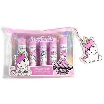 Martinelia Unicorn Lip Balm Cosmetic Bag Σετ Lip Balm Μονόκεροι 6 x 4gr