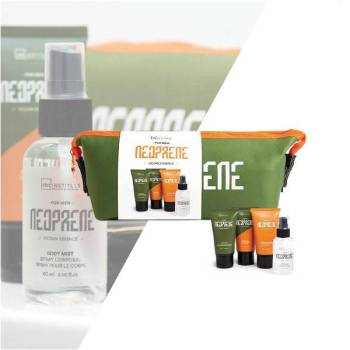 IDC Neoprene Men's Gift Set Body Spray 60ml After Shave Lotion 60ml Face Wash 60ml Shaving Gel 60ml