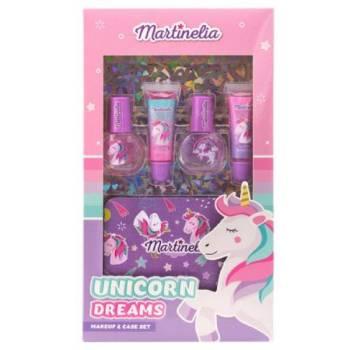 Martinelia Unicorn Dreams Σετ Lip Balm 2x 6.2ml Nail Polish 2 x 6ml + Tin Case