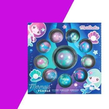 Martinelia Mermaid Βόμβες Μπάνιου Pearls 10 Piece - 9 Bath Bombs 40g, 1 Bath Bomb 120g