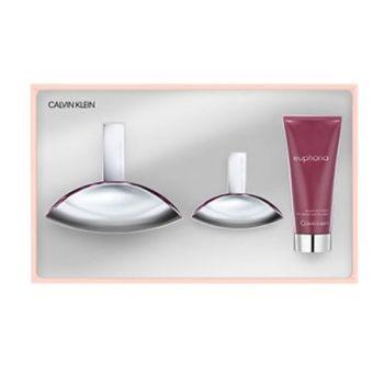 Calvin Klein Euphoria Women Gift Set - Άρωμα EDP 100ml + Άρωμα EDP 30ml +Γαλάκτωμα 100ml