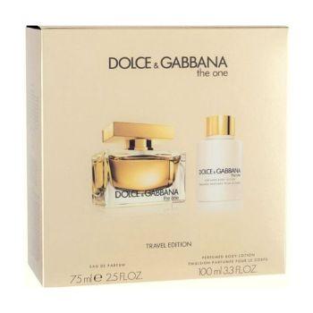 DOLCE & GABBANA Σετ Δώρου Γυναικείο The one Άρωμα 75ml Eau De Parfum Spray + 100ml Body Lotion