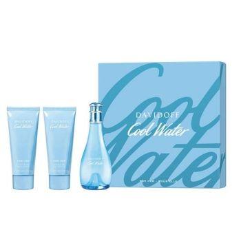 Davidoff Cool Water Women Gift Set - Άρωμα EDT 100ml, Γαλάκτωμα 75ml & Αφροντούς 75ml