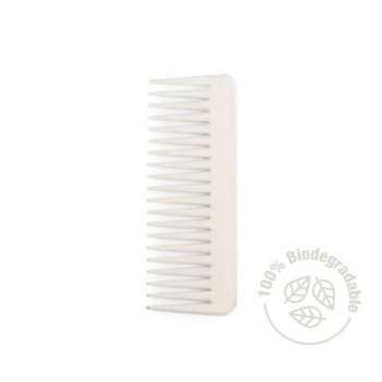 IDC Eco Rake Hair Comb Easy Detangling Χτένα Μαλλιών Εύκαμπτη 100% ανακυκλώσιμη 30gr White