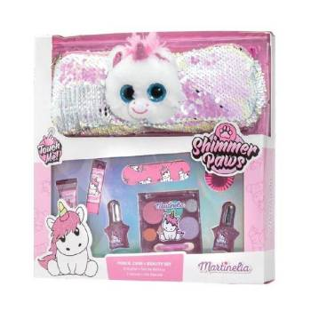 Martinelia Shimmer Paws Unicorn Pencil Case & Beauty Set 25 x 26 x 6cm