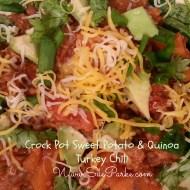 Crock Pot Sweet Potato & Quinoa Turkey Chili