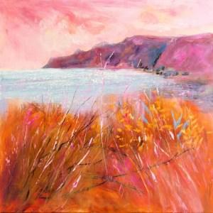 Northcott Mouth, Bude, Cornish coast painting