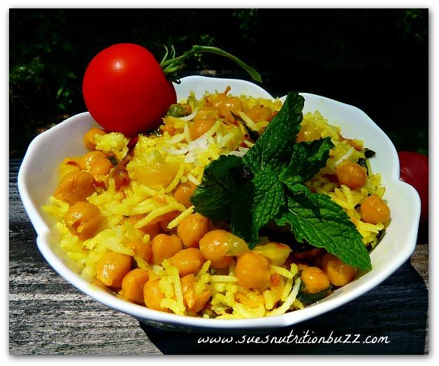 Chickpea Lemon Mint Rice Salad